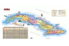 "Cuba Tourist Map Poster Mini 11""X17"""