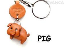 Pig Handmade 3D Leather Dog/Animals Key chain/Charm *VANCA* Made in Japan #56216