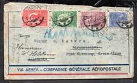 Brazil 1931 Airmail Aeropostale multi cachet redirected cover WS12213