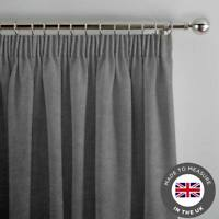 Grey Made To Measure Curtains - Luxury Lined Thick Curtain - Made in the UK