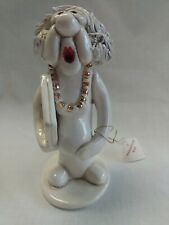 Tweeples World by Joe Peck Mother to Be Ceramic Figurine Whistle