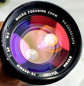Vivitar MC 75-205mm f3.5 Macro Zoom  O/OM Lens for Olympus made in Japan