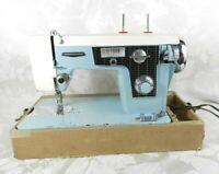 Vintage Good Housekeeper Sewing Machine Model 290 J-A3 Turquoise Blue Japan