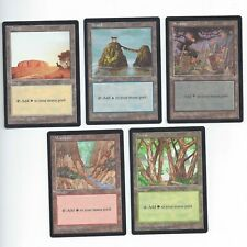 MTG PROMO Apac Lands Blue Booster Set Plains Island Swamp Mountain Forest Magic