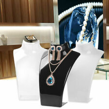 Fashion Mannequin Bust Jewelry Necklace Pendant Earrings Display Stand Holder Be