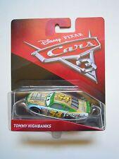 CARS 3 Disney pixar TOMMY HIGHBANKS nr.54 2017 RARO mattel 1/55 faux wheel nuovo