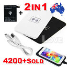 OZ For Samsung Galaxy S5 QI Wireless Charger Charging Pad G900 + Receiver
