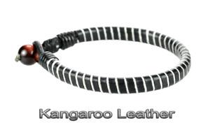 1AB-532 HANDMADE Genuine Kangaroo Leather Tigers Eye New ANKLET Men Bracelet