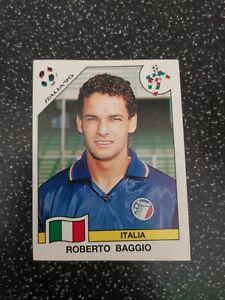 """PANINI FIFA WORLD CUP """"ITALIA 90"""" ROBERTO BAGGIO #53 Original RARE"""