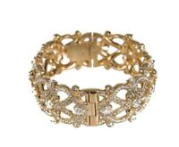 Nadri Gold Celtic Knot Crystal Bangle 0441