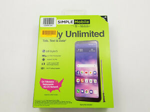 LG Stylo 5 L722DL 32GB Simple Mobile Check IMEI New -BT8218