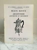 Catalogue Di Vendita Bei Gioielli Argenteria Vintage E Moderno 31 Mars 1977
