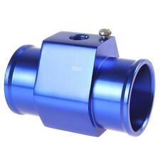 "38mm 1/8"" NPT Blue Aluminium Water Temp Gauge Radiator Hose sensor Adapter Pipe"