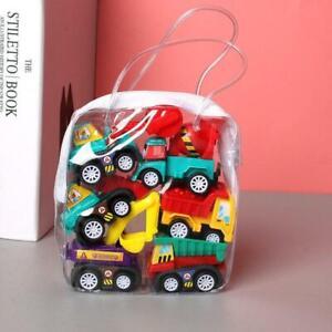 6pcs Car Model Pull Back Car Toys Mobile Vehicle Fire Truck Taxi Model Kids gift