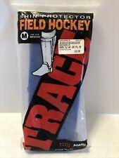 TRACE Field Hockey SHIN GUARDS. Size M Medium Blue  Model 14000. NIP. U
