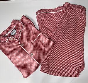 Petite Plume Red White Gingham Pajama Set EUC Youth Sz 12