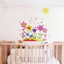 FASHION fiore cartone animato bambino camera Rimovibile Adesivo Parete sicuro Decorazione Murale