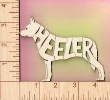 Blue Heeler Australian Cattle Dog laser cut and engraved wood Magnet