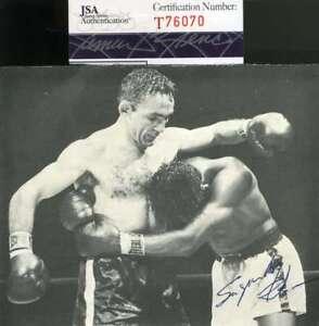 Sugar Ray Robinson Jsa Coa Autograph 4x6 Photo Hand Signed Authentic