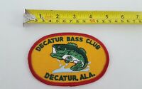 DECATUR ALABAMA BASS CLUB FISHING EMBROIDERED  PATCH