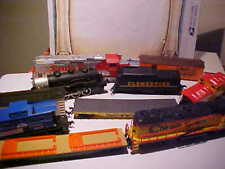 Lot of HO Gauge Train Cars PARTS AS IS Life-Like Engines Sante Fe Chessie B&O