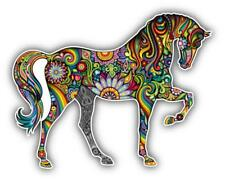 sticker decal car laptop macbook kitchen room horse flower rainbow colored