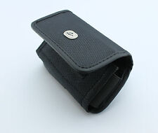 Rugged Canvas Side Pouch for Phones (Fits w Thick Hard Dual Layer Case on it)