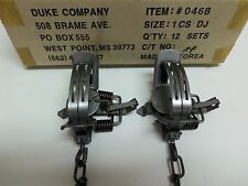 2  Duke #1 Double Jaw Coil Spring Traps Raccoon Fox Nutria Muskrat Trapping 0468