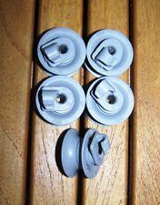 165312 BOSCH 5 x Roulettes complètes de panier supérieur pour lave vaisselle