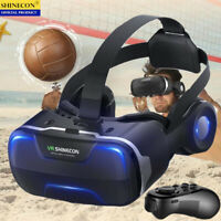 VR Virtual Reality 3D Glasses Headset Bluetooth Remote Controller For Samsung
