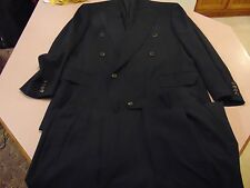 ERMENEGILDO ZEGNA Double Breasted Suit High Performance 2-PC 100% Wool Navy