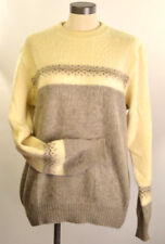 Vintage Women's Sweater Banff  100% Wool  Sz-Large Pull Over Round Neck Canada