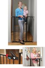 Extra Tall Door Baby Gate Walk Through Stairs Child Infant Pets Dog Safety Lock