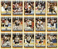 1991-92 Foodland Pittsburgh Penguins 15 Hockey Card Set