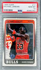 1988 Fleer Michael Jordan #17 PSA 10 GEM MINT Chicago Bulls HOF GOAT