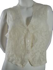 Vintage 90's Laura Ashley waistcoat Silk and Lace look stunning Size 18 Tie