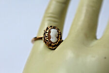 10K YELLOW GOLD SHELL CAMEO  RING SIZE 4.5, 2.1 GRAMS PART OF MARK ACID TEST 10K