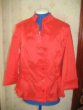 STUNNING RED UNLINED  EVENING JACKET / TOP by JOSEPH RIBKOFF SZ12 BNWT  £217