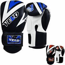VELO Boxing Gloves Leather Fight Punch Bag Muay thai MMA Kickboxing Sparring MFL