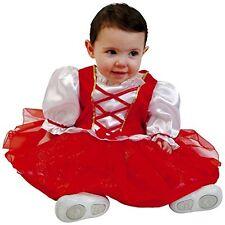 CAPPUCCETTO ROSSO COSTUME CARNEVALE BAMBINA BABY 0-12 mesi