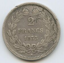 Louis-Philippe (1830-1848) 2 Francs 1833 L Bayonne Rare