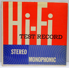 Stereo Monophonic Hi-Fi Test Record Components Corporation Denville New Jersey