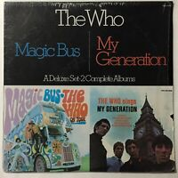 The Who Magic Bus My Generation Deluxe Set 2 LP VG+ MCA2-4068 In Shrink