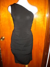 Victoria's Secret Moda International Blk One Shoulder Ruched Multi Way Dress XS