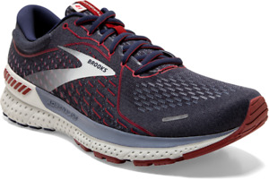 BROOKS ADRENALINE GTS 21 MEN'S ATHLETIC RUNNING SNEAKERS NAVY/GRY/RED