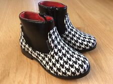 Ankle Boots Toddler Girl's L'Amour Houndstooth 7 Black White NWOB Spring Bootie