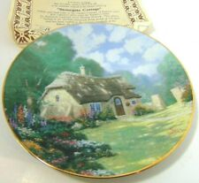Thomas Kinkade Garden Cottages English Plate Stonegate Cottage