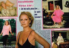 Coupure de Presse Clipping 1982 (2 pages) Virna Lisi