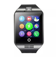 New Q18 Touch Screen Bluetooth Smart Wrist Watch For Android & iOS Black