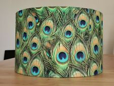 NEW HANDMADE LAMPSHADE - exotic peacock design.